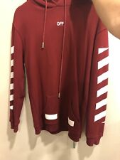 Off White Red Hoodie SS2018 Sz M