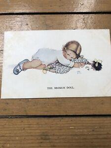 mabel lucie attwell Vintage Postcard The Broken Doll