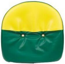 "Tractor Universal 21"" Pan Seat Cover Cushion Green and Yellow"