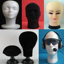 Perruque Mannequin en Toile Mousse Polystyrène Mannequin Tête Modèle 7 Types