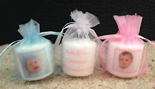 Personalised Photo Candles (christening/ baptism/ naming day) set of 15
