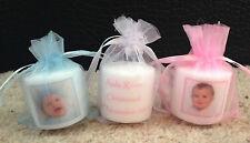 Personalised Photo Candles (christening/ baptism/ naming day) set of 10