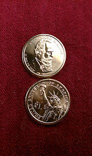 TWO 2011 D BU Rutherford B Hayes US Presidential Dollars 2 Edge Positions A & B