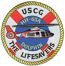 HH-65A Dolphin white Lifesavers helicopter W4840 USCG Coast Guard patch