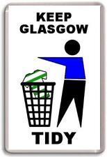 Glasgow Rangers, Keep Glasgow Tidy Fridge Magnet Free Postage