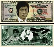 Bruce Lee Banknote 1 Million Dollar! Series Karate Kung Fu Martial Art Wing Chun