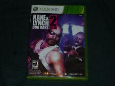 Kane & Lynch 2: Dog Days  (Xbox 360, 2010) with Book!