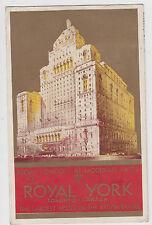 The Royal York Hotel Toronto Postcard