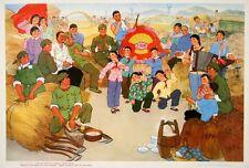 Original Vintage Poster Chinese Cultural Revolution The Harvest 1974 Mao
