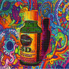 LIQUID #25 color BLOTTER ART perforated LSD Acid Art paper sheet tabs