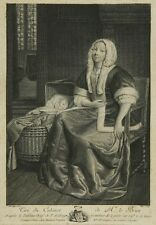 P. de  Hooge: Mutter mit Kind, Kupferstich von 1776