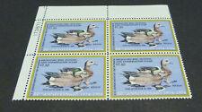 RW51 $7.50 Widgeons Federal Duck MNH PLATE BLOCK of 4 VF OG