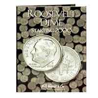 H.E. Harris Roosevelt Dime Coin Folder Starting at 2000 #2941
