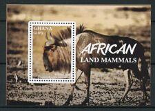 Ghana 2016 MNH African Land Mammals Wildebeest 1v S/S Wild Animals Stamps