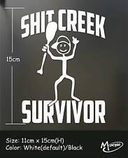 Shit Creek Survivor Funny Car Truck Laptop Decal Stickers Best Gift Present