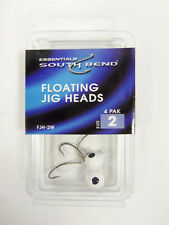 Lot of 15 South Bend FJH-2W White Floating Jig Heads, Hook Size 2 Pack of 4