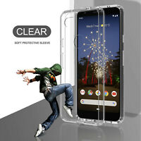 For Google Pixel 3a / 3a XL Shockproof Crystal Clear Armor Phone Soft Case Cover