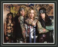 STEEL PANTHER - BAND  A4 SIGNED AUTOGRAPHED PHOTO POSTER  FREE POST