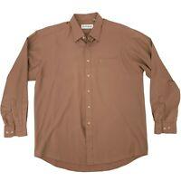 Yves Saint Laurent Dress Shirt Men Size 17.5 - 34/35 Brown Long Sleeve Button Up