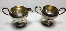 Vintage Collectible P.S.C.O  Silver on Copper Footed Creamer & Sugar Silverplate