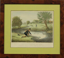 """""""Classic 'Live-Bait Fishing for Jack' Colour Plate by James Pollard"""""""