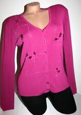 201 40 Taupe Linea Tesini Damen Cardigan Shirtjacke Langarm Gr