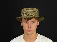 Vintage 60's Hipster Ein Mayser 18 33 Milz Hut Trilby Plaid Wool Fedora Hat S/M