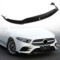 3PCS Front Bumper Lip Chin Spoiler Body Kit For Benz W177 A Class 2019 Sport