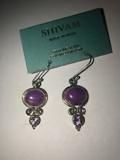 Shivam Made in India .925 Sterling Silver Purple Copper Turquoise Amethyst New
