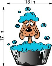 "13"" x 17""   DOG WASH DECAL FOR WALLS OR WINDOWS STORE FRONT"