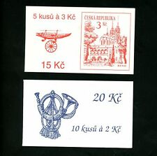 LOT 81651 MINT NH 1890 2890A TWO COMPLETE BOOKLETS STAMPS FROM CZECHOSLOVAKIA