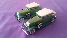 Lot De 2 Véhicules Miniature « Cadillac V16 » 1931 Solido 1/43 En Bon Etat