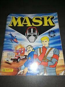 MASK  PANINI MASK von 1986 TEILBEBILDERTES ALBUM  GEBRAUCHT