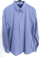 Banana Republic Slim Fit Mens Large Blue-Purple Striped Long Sleeve Dress Shirt