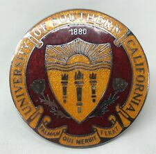 Rare Vilem B. Haan Cloisonné radiator Auto Badge University Southern California