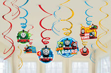 THOMAS AND FRIENDS PARTY SUPPLIES 12 x HANGING SWIRLS PACK WITH NEW DESIGNS