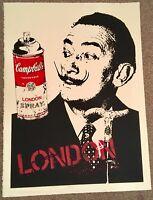 MR BRAINWASH LONDON/DALI SIGNED PRINT/ BANKSY