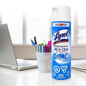 LYSOL Spray Can Disinfectant Spray Disinfectant Linen 12oz Bottle SHIPS NOW/USA