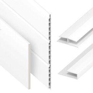 UPVC Flat Plastic Soffit Fascia Board General Purpose Utility 5M Liner 9mm Thick