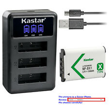 Kastar Battery Triple Charger for Sony NP-BX1 & Sony Cyber-shot DSC-WX350 Camera