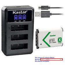 Kastar Battery Triple Charger for Sony NP-BX1 & Sony Cyber-shot DSC-HX80 Camera