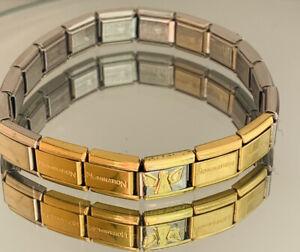Genuine Nomination 17 Link Bracelet Plus Tucci Angel Link  - Silver / Gold