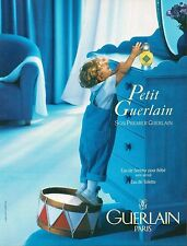 ▬► PUBLICITE ADVERTISING AD PARFUM PERFUME GUERLAIN Petit Guerlain 1994