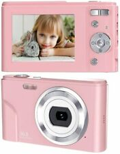 Digital Camera, 1080P HD Vlogging LCD Mini Camera with 16X Zoom 36MP (Pink)