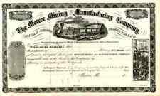 18_ Mercer Mining & Manufacturing Co Stock Certificate