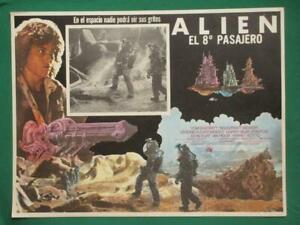 ALIEN HORROR SIGOURNEY WEAVER RIDLEY SCOTT ORIGINAL SPANISH MEXICAN LOBBY CARD