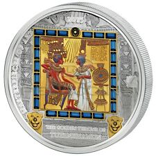 Cook Islands 2015 20$ + 25$ Masterpieces of Art Gold Throne of Tutankhamun