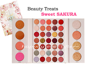 Beauty Treats Sweet SAKURA 35 Eyeshadow, 4 Highlighter, 4 Bronzer Palette, NEW