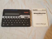 Vintage Franklin Wordmaster Deluxe Dictionary w/ Instruction Manual Wm-1055 1985