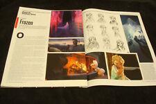 """FROZEN 2013 Oscar article """"Making of Frozen"""" Elsa queen of Arendel, Anna, Disney"""
